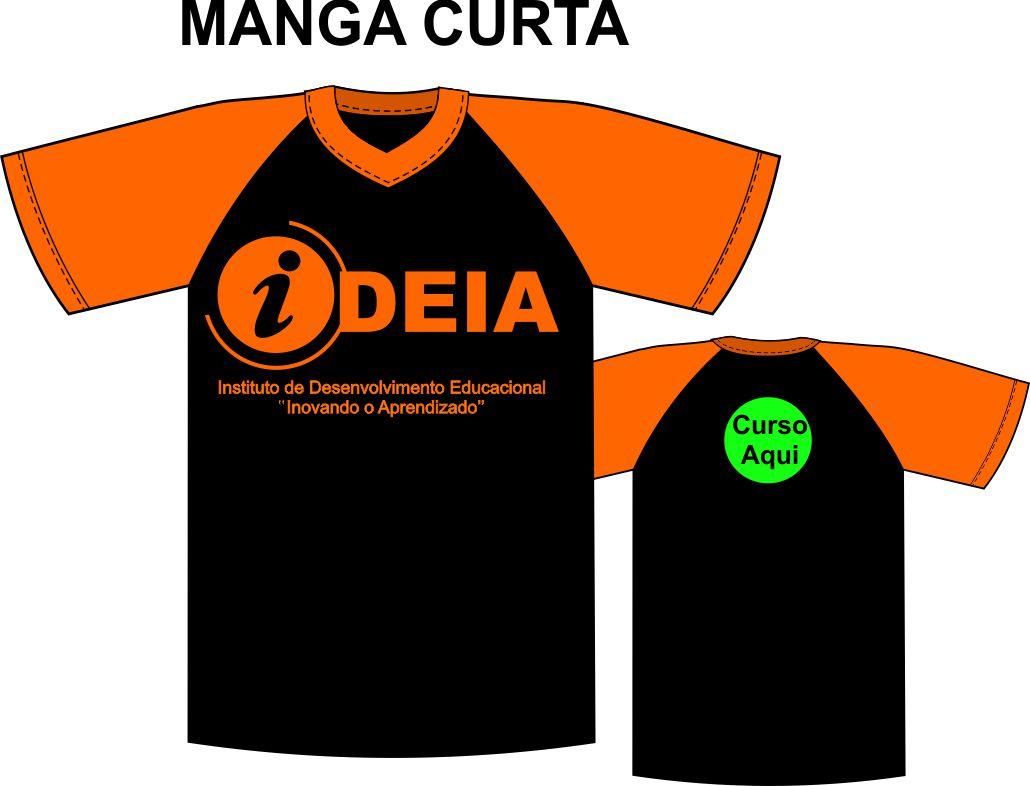 Camiseta Manga Curta Preta Ideia