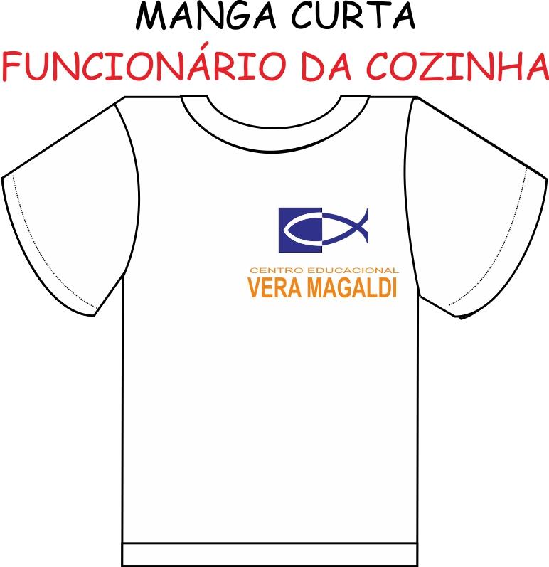 Camiseta Manga Curta Vera Magaldi (FUNCIONÁRIO da COZINHA)