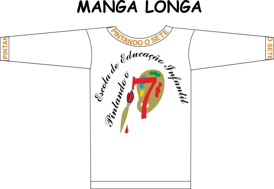 Camiseta Manga Longa Pintando o 7