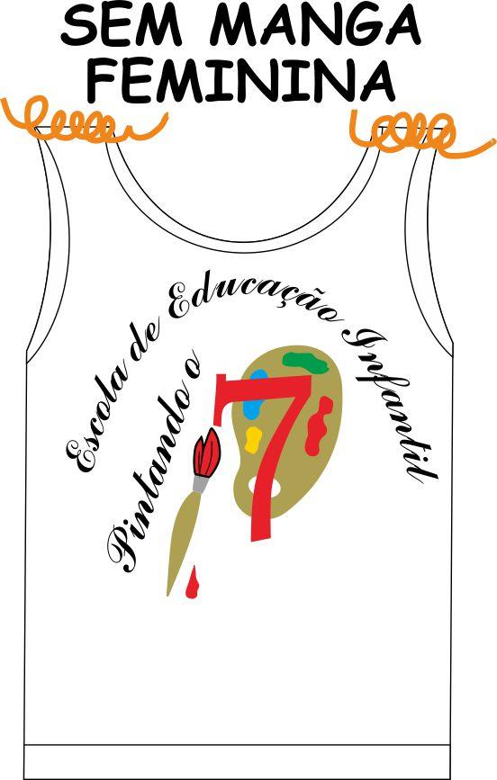 Camiseta Sem Manga Feminina Pintando o 7