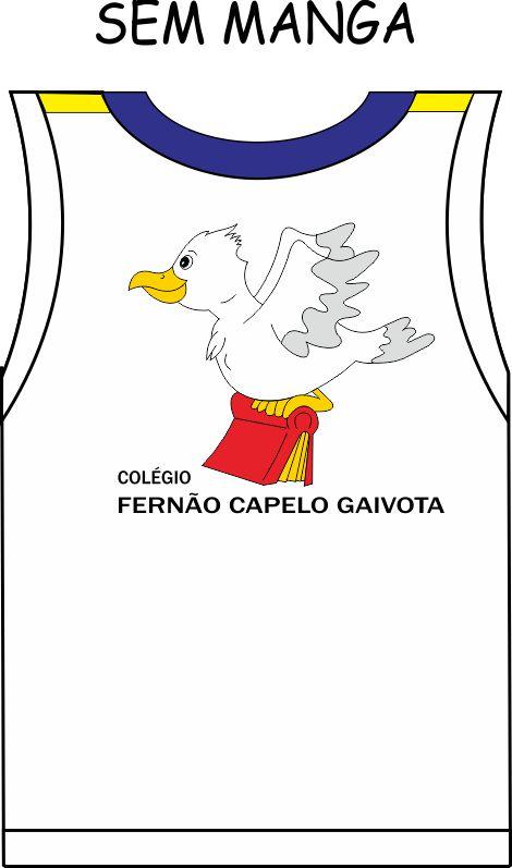 Camiseta Sem Manga Fernão Capelo Gaivota