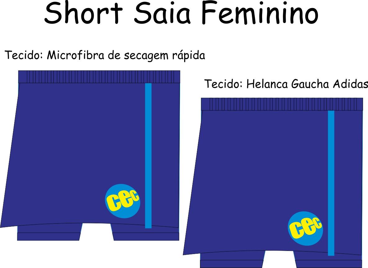 Short Saia Feminino CEC