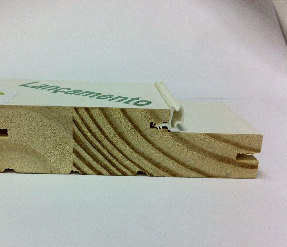 Borracha de Vedação para Porta - Encaixe Deslocado - Cor Branca - 6114