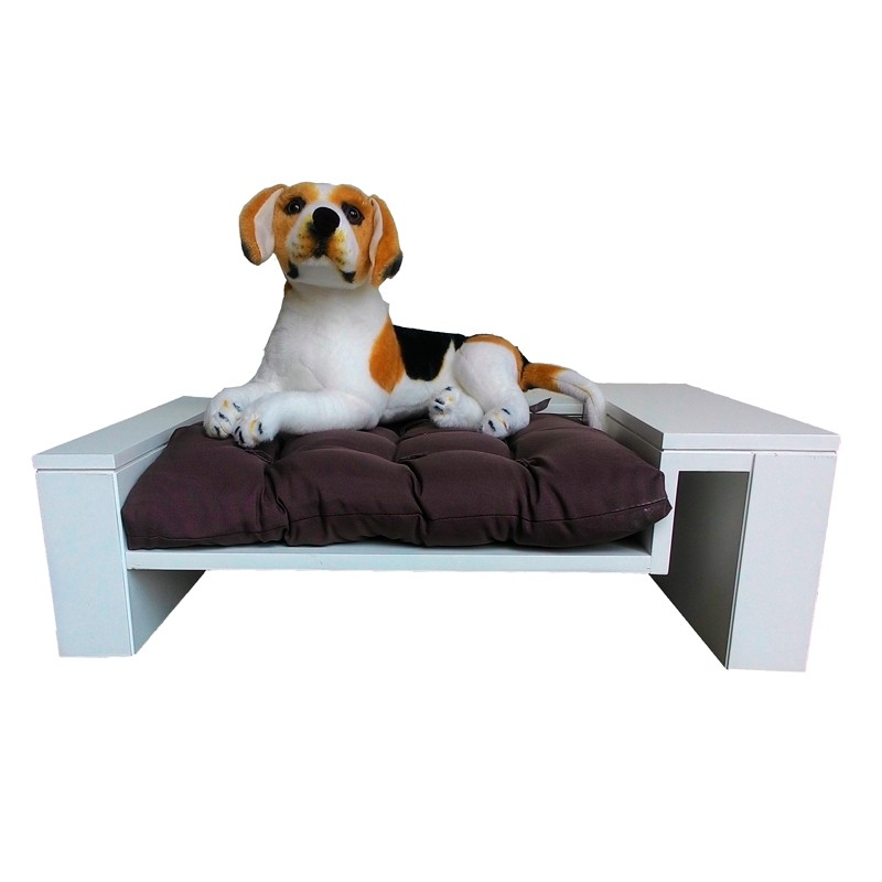 Divã Pet Luxo Branco Laca Poltrona para Cães e Gatos de Até 10kg