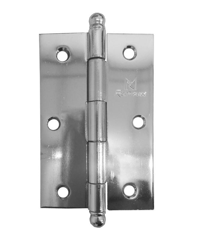 Dobradiça para Porta 3.1/2 Aço Cromado