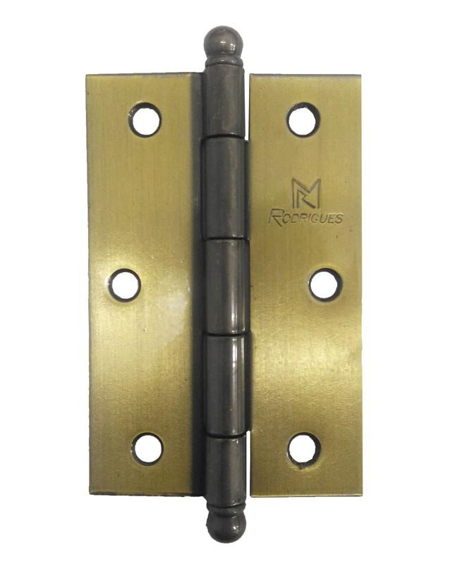 Dobradiça para Porta 3.1/2 Aço Latonado Oxidado