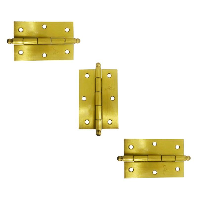 Dobradiça para Porta 3.1/2 Latão Amarelo Acetinado