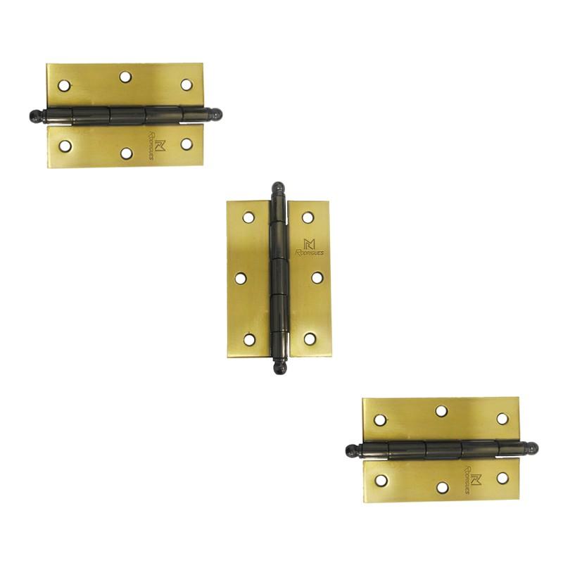 Dobradiça para Porta 3.1/2 Latão Oxidado