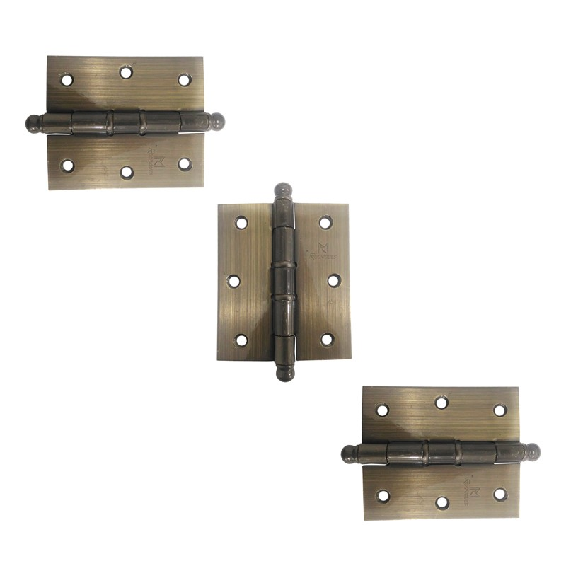 Dobradiça para Porta Reforçada 3.1/2 x 3 Aço Antique
