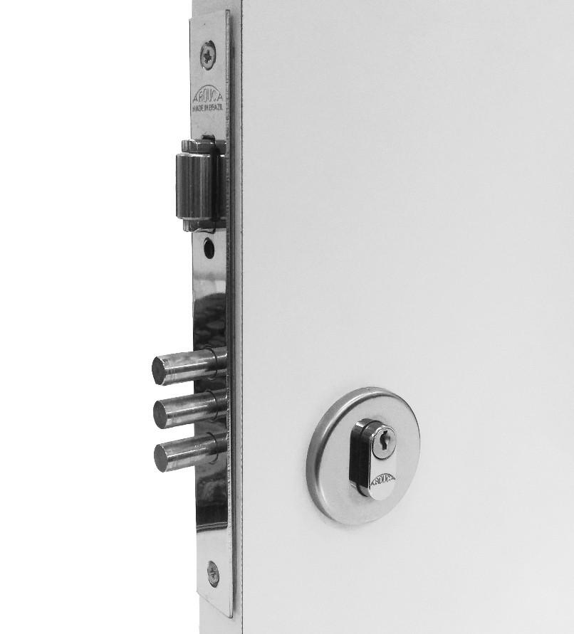 Fechadura de Entrada com Trinco Rolete 3 pinos Blindada