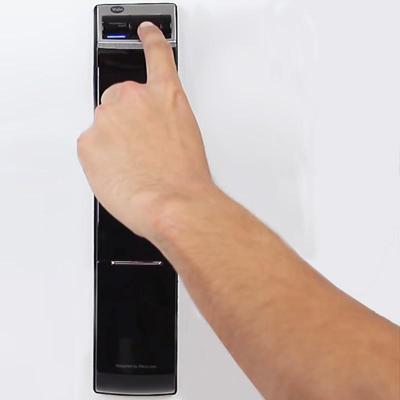 Fechadura Digital  Yale de Embutir  sem Maçaneta com Abertura Por Senha e Impressão Digital YDM 4109