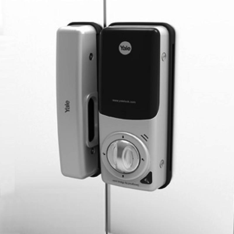 Fechadura Digital Yale para Portas de Vidro Dupla com Senha e Cartão de Proximidade YDG 313