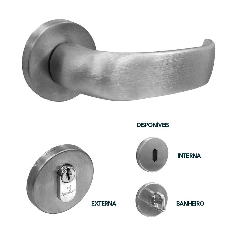 Fechadura para Portas de Madeira em Alumínio 107 Seno 55mm Rodrigues