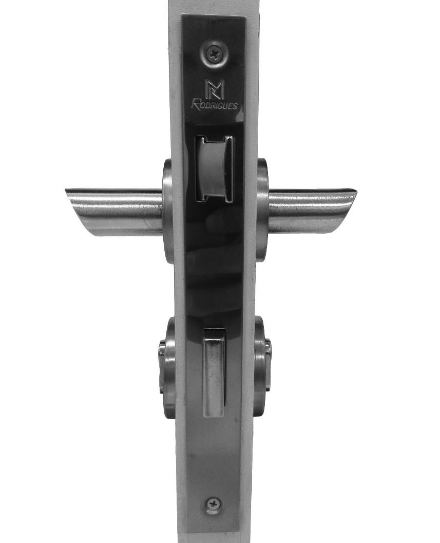 Fechadura para Portas de Madeira em Alumínio 110 Volan 55mm Rodrigues