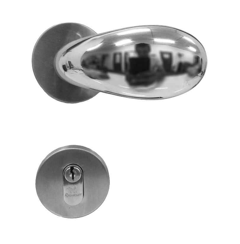 Fechadura para Portas de Madeira em Alumínio 143 Tria 55mm Rodrigues