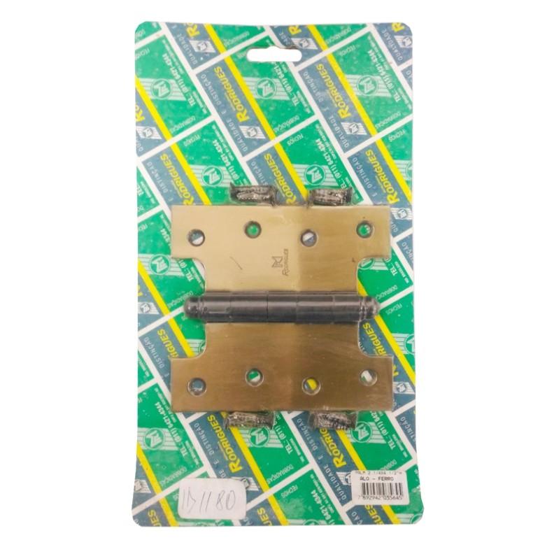 Palmela para Porta Balcão com folha Dupla 2.1/4 x 4.1/2  Aço Latonado Oxidado