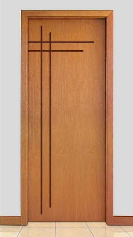 Porta de Madeira Frisada Acabamento Curupixá PTL500