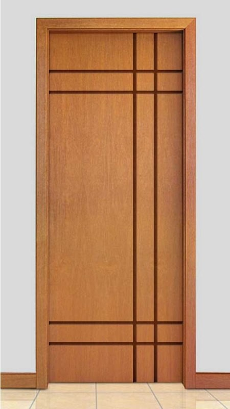 Porta de Madeira Frisada Acabamento Curupixá PTL510
