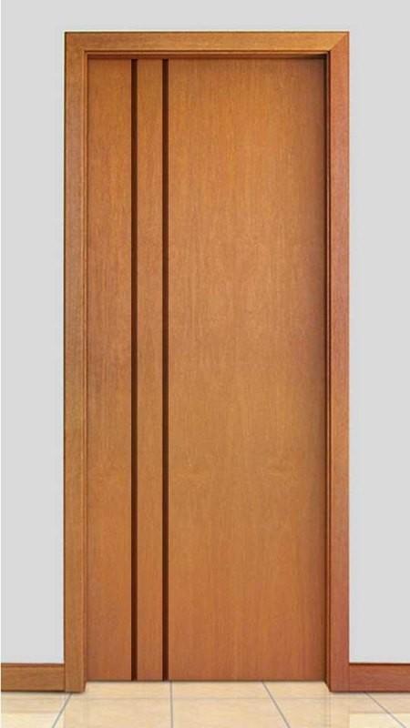 Porta de Madeira Frisada Acabamento Curupixá PTL62