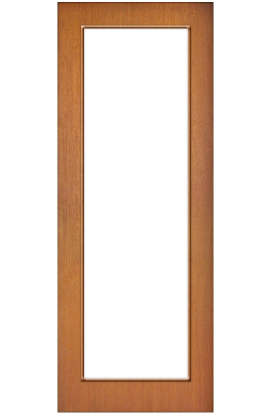 Porta de Madeira Panorâmica com Acabamento Curupixá
