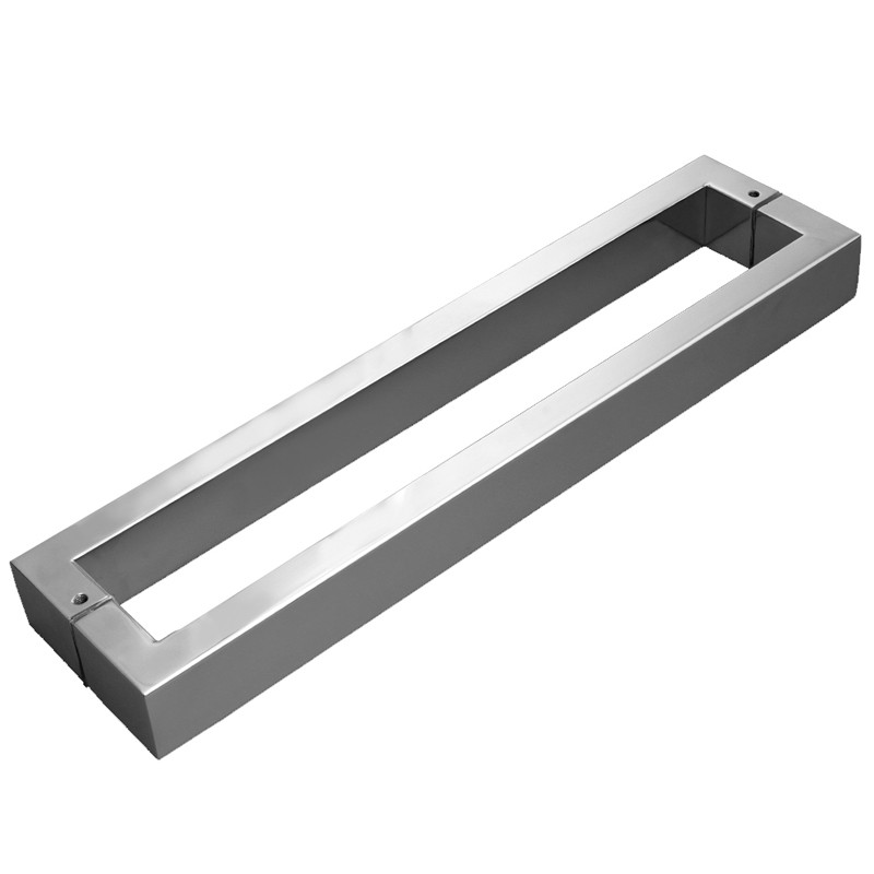 Puxador de Porta Tubular Duplo em Inox H40