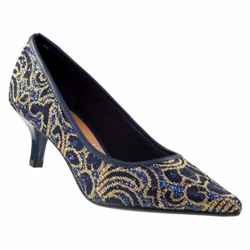 Sapato Scarpin Vizzano Feminino Tecido Renda Veneza 1122620