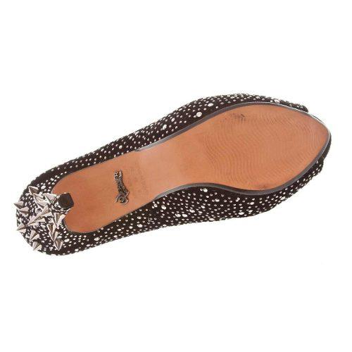 Sapato Peep Toe Meia Pata Werner Detalhes Cromados Feminino