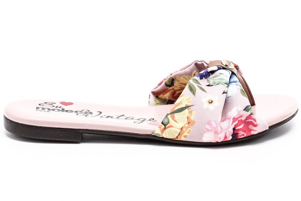 Rasteira Moleca Tira Tecido Dedo Floral 5429111