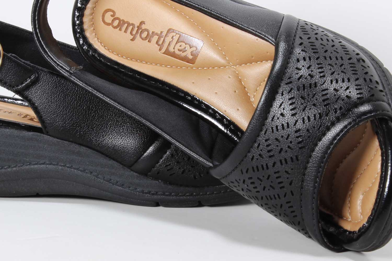 Sandália Comfortflex Feminina Anabela 1896402