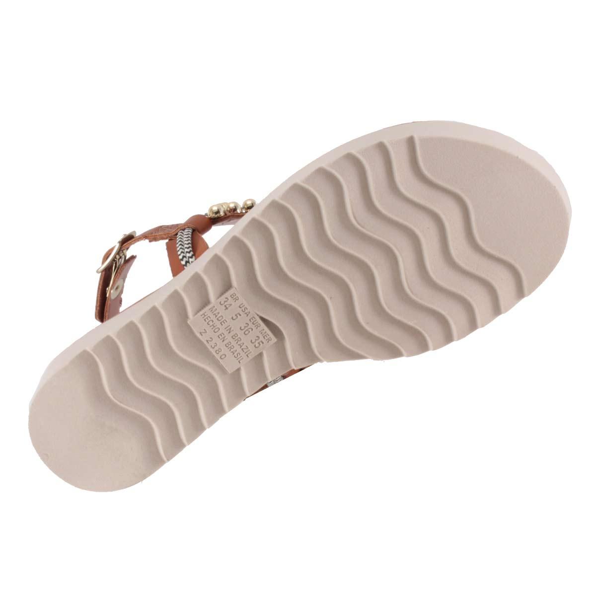 Sandália Dakota Flatform Pedrarias Dedo Linda Confortável Z2712