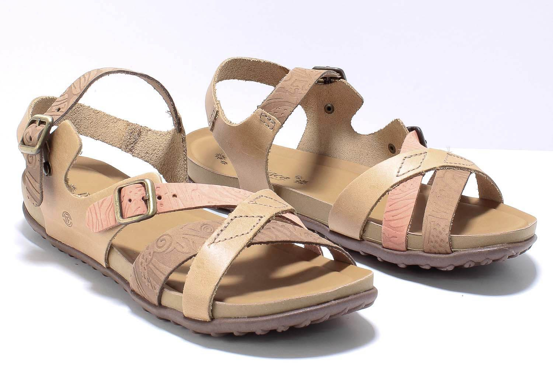 Sandália New Face Fashion Feminina Couro Comfort Tiras 36706