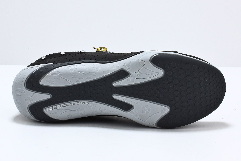 Sapatênis Kolosh Tênis Feminino Ziper Strass Elástico C1282R