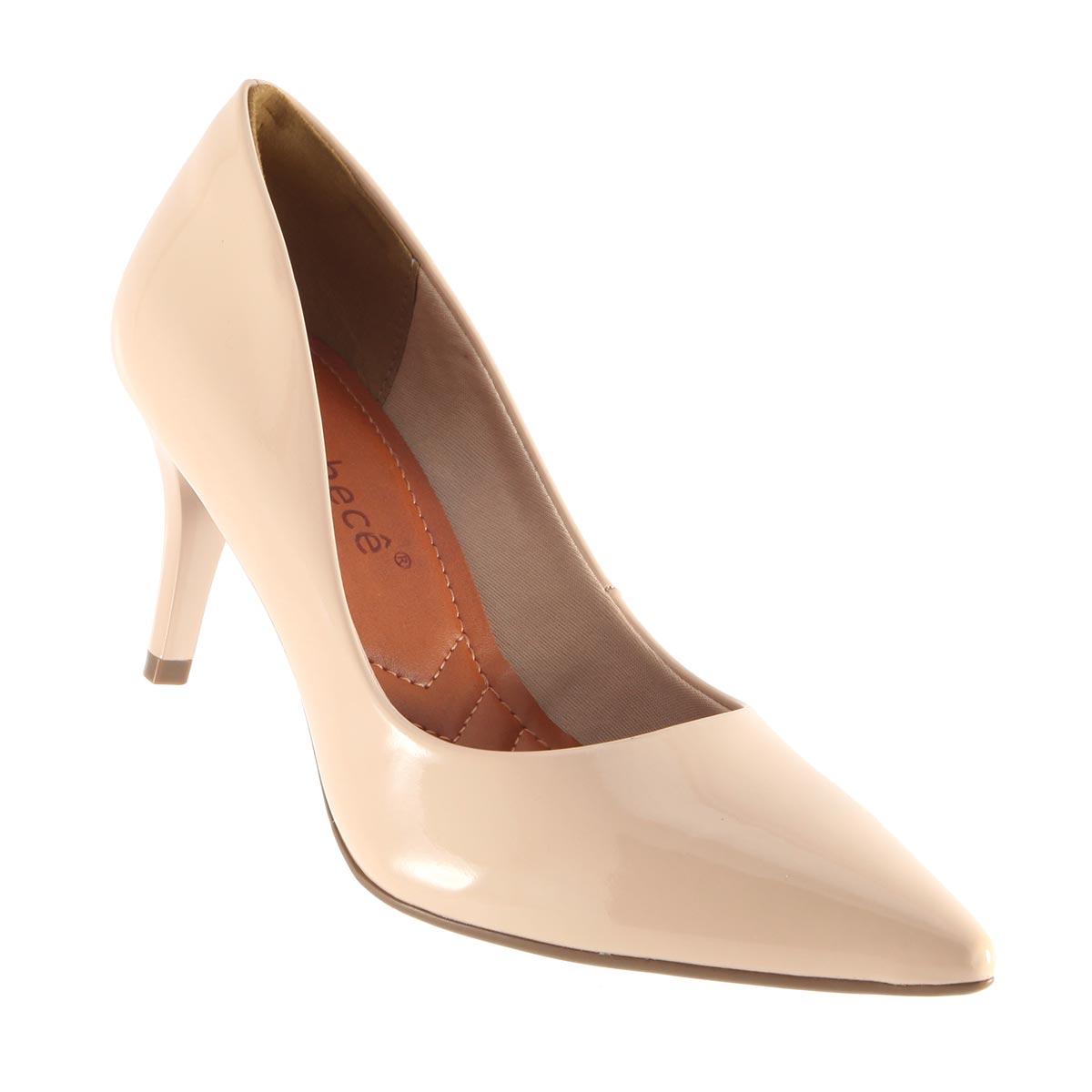 Sapato Bebecê Scarpin Bico Fino Verniz 7010-180
