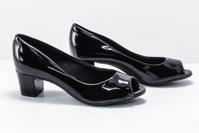 Sapato Beira Rio Feminino Peep Toe Verniz 4777300