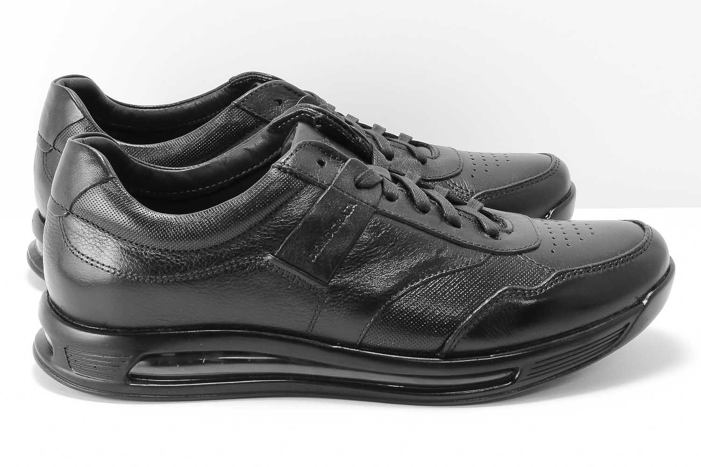 Sapato Democrata Smart Comfort Air 360 Couro Masculino 202101