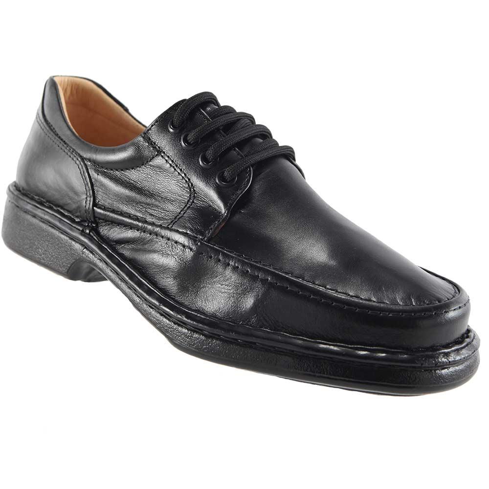 Sapato Isttony Conforto Cadarço Anti-stress Em Couro Pelica Legítimo 2002