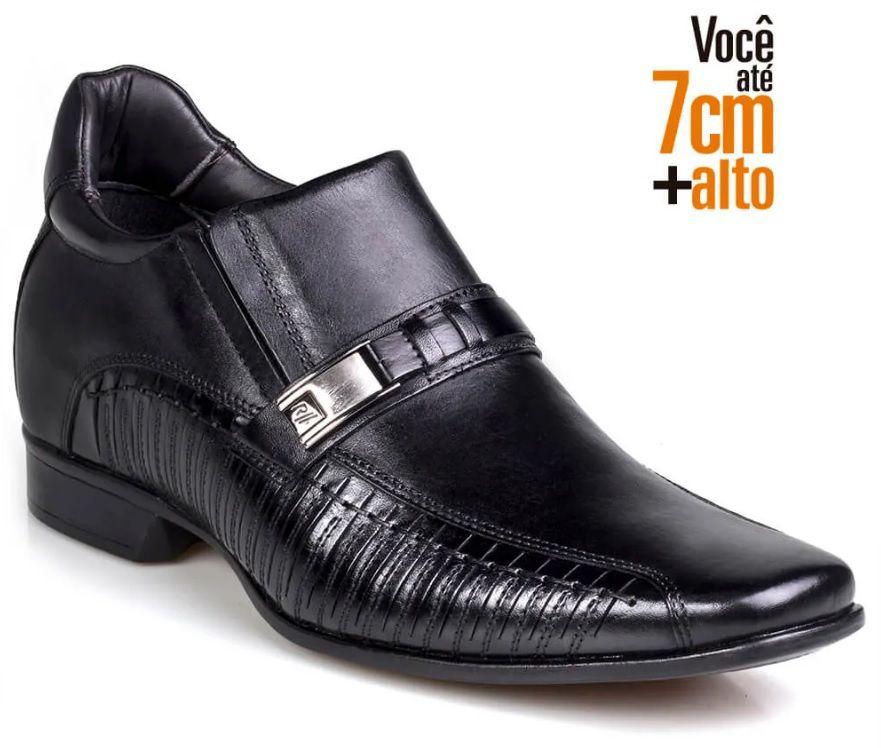 Sapato Rafarillo Masculino Couro 7cm Fivela 3267