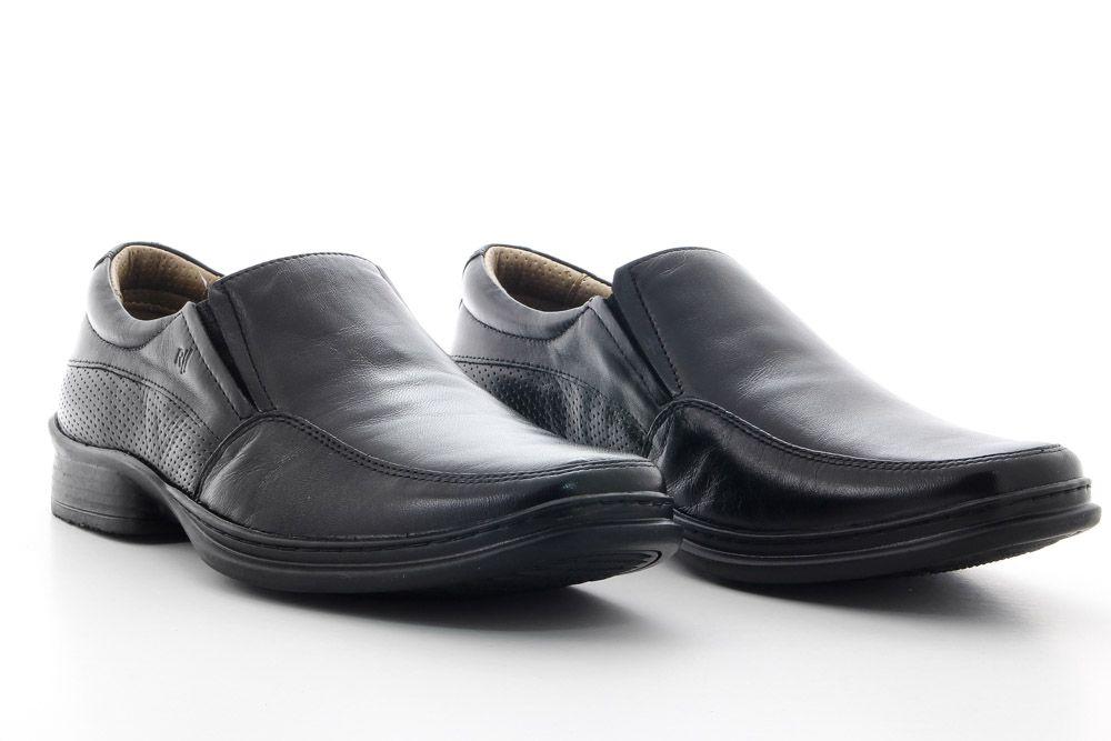 Sapato Rafarillo Masculino Couro Conforto Leve Flexível 9216