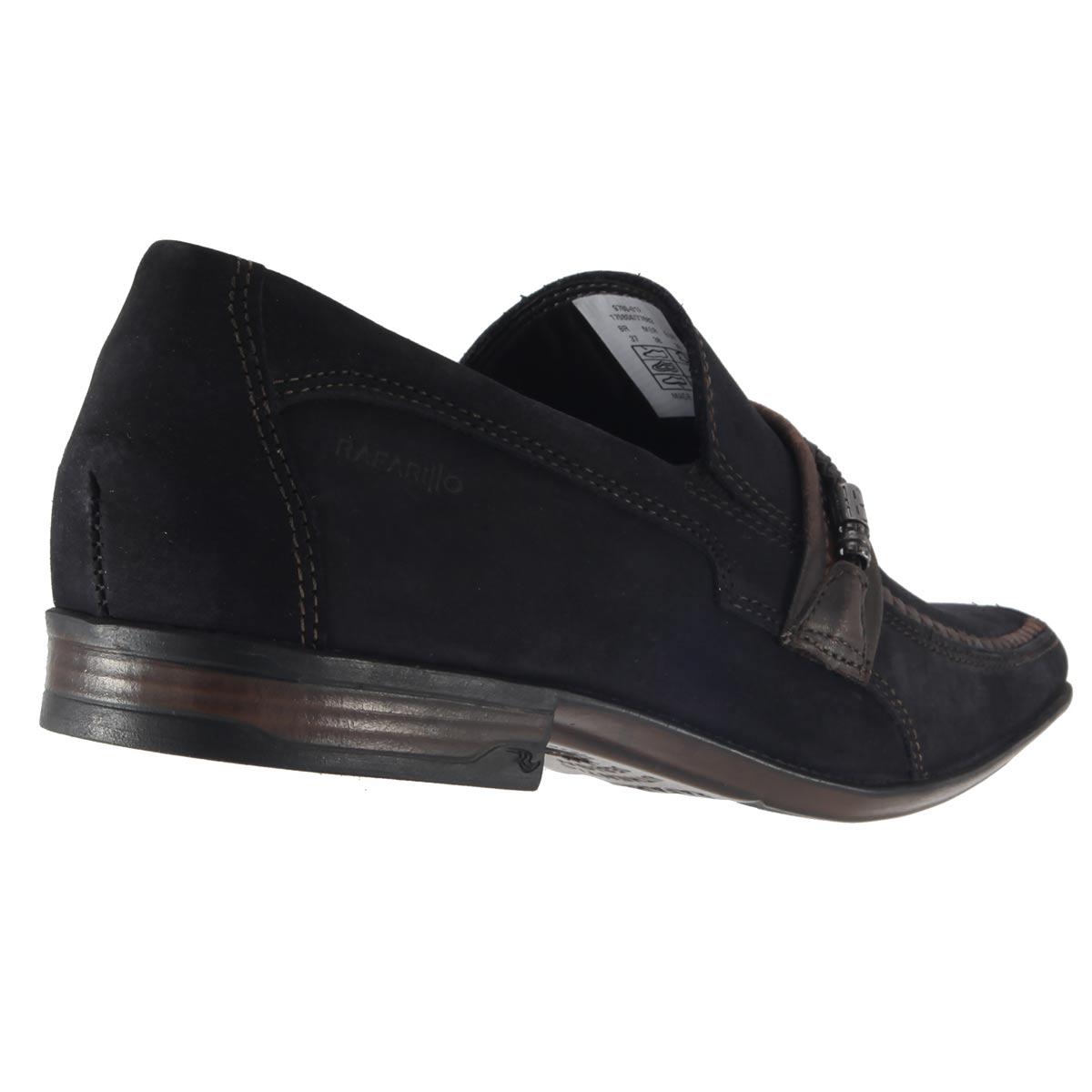 Sapato Rafarillo Masculino Couro Vegetal Natural Nobuck 9780