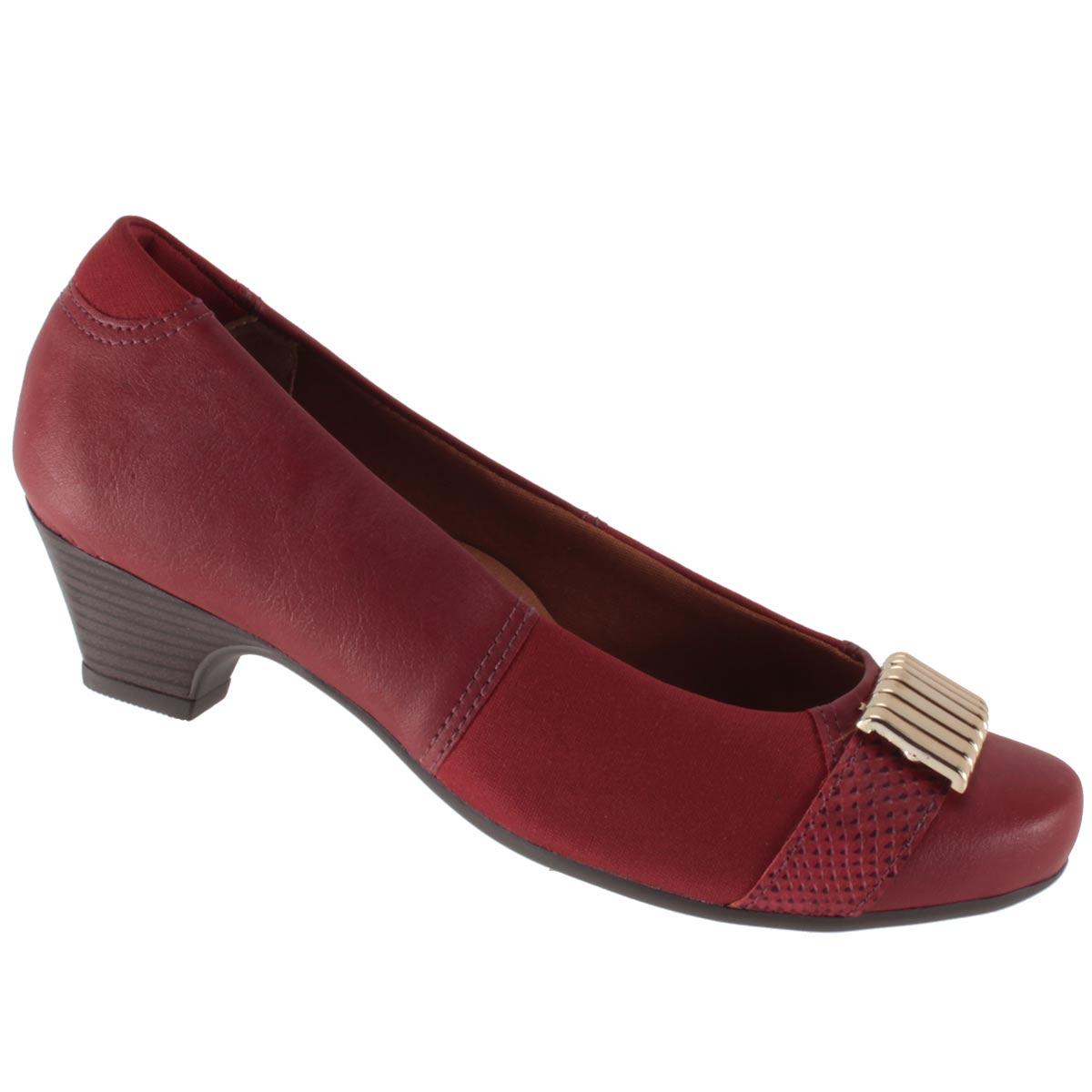 Sapato Scarpin Campesí Salto Baixo Metal Joanete L5451