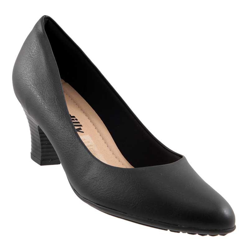 Sapato Scarpin Piccadilly Liso Salto Fachetado 703008