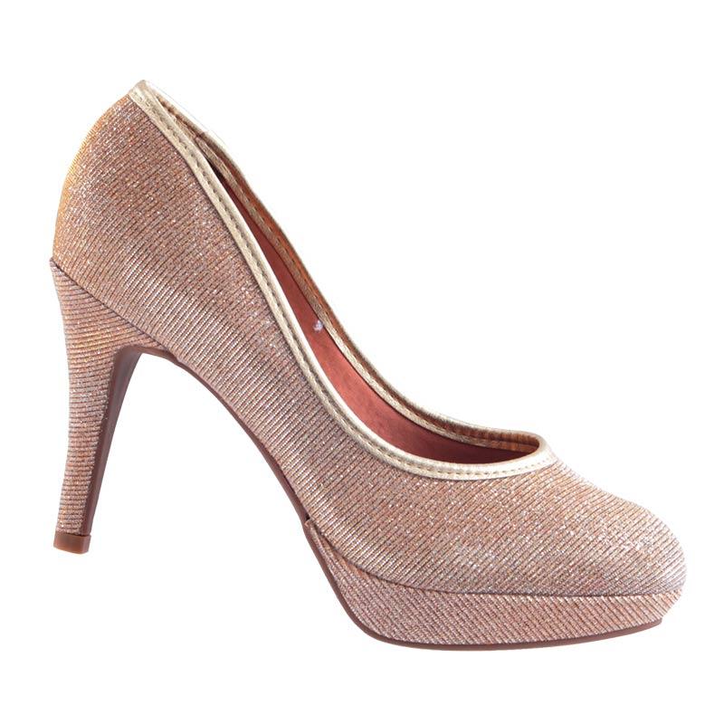 Sapato Scarpin Salto Meia Pata Vizzano Gliter 1200110