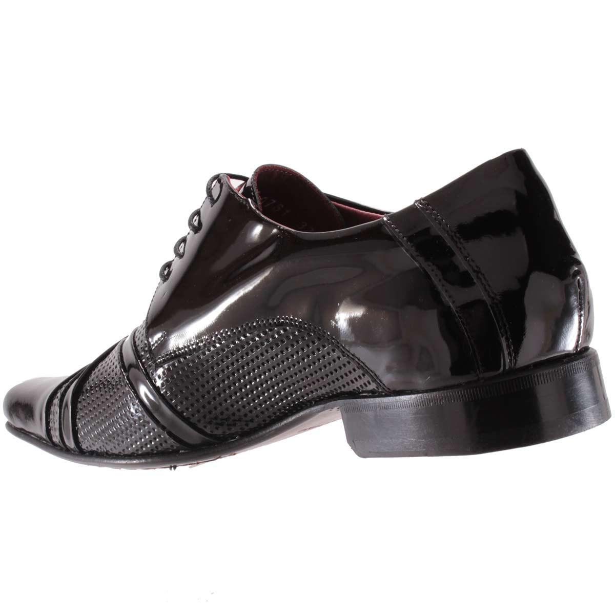 Sapato Social Gofer Masculino Couro Verniz Legítimo 0761