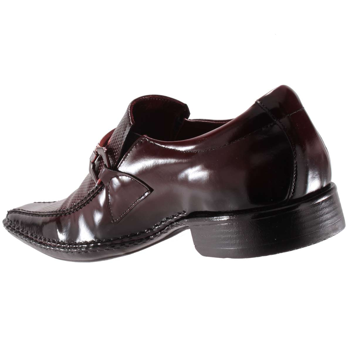 Sapato Social Gofer Masculino Fivela Couro Verniz Legítimo 0571