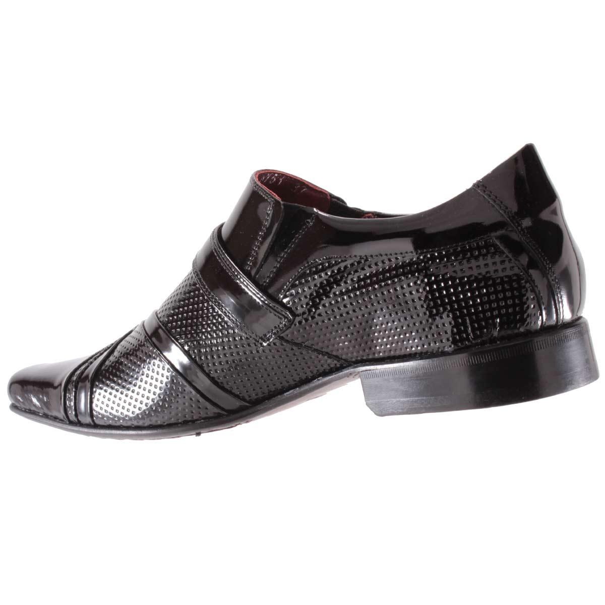 Sapato Social Gofer Masculino Fivela Couro Verniz Legítimo 0751A