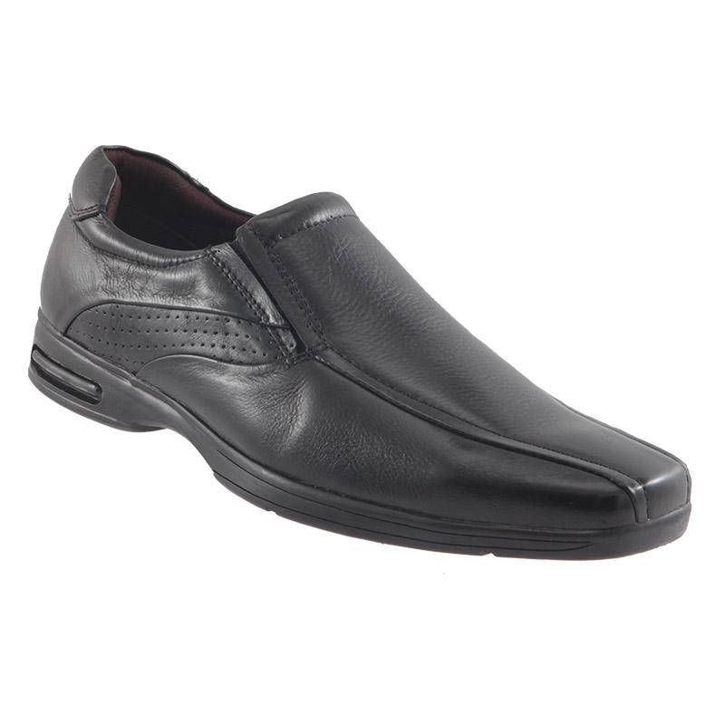 Sapato Social Masculino Fork Amortecimento Air Soft Confort Preto 8919