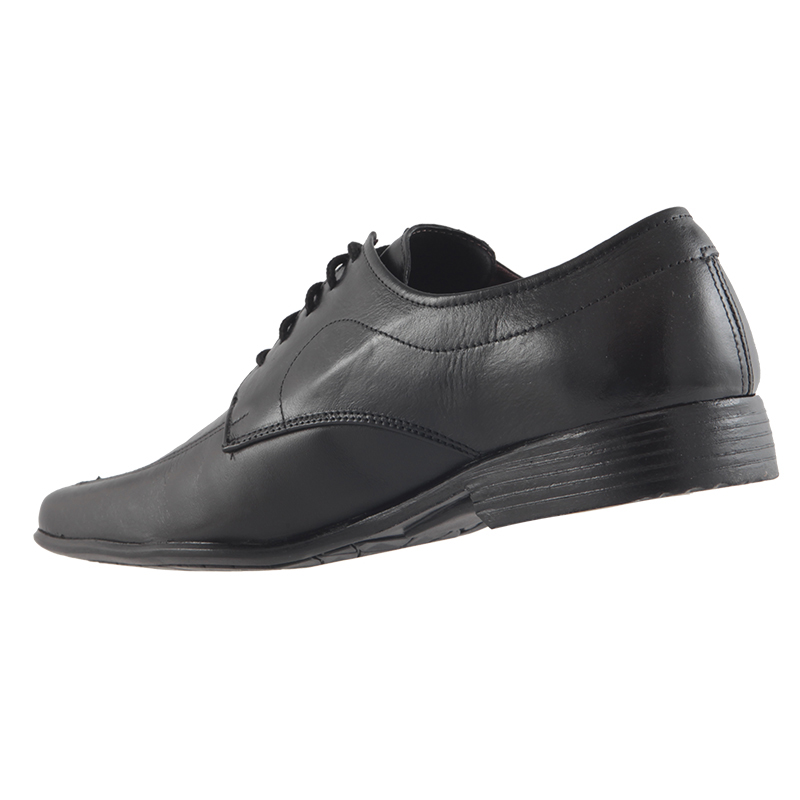 Sapato Social Trilhos Em Couro Legítimo Cadarço Masculino 6864M