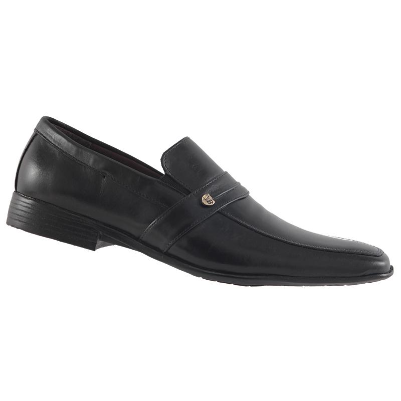 Sapato Social Trilhos Em Couro Legítimo Masculino 6863M