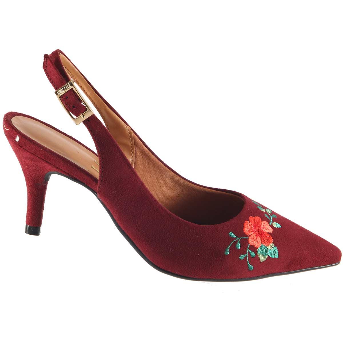 Sapato Vizzano Scarpin Chanel Feminino Bordado 1185146