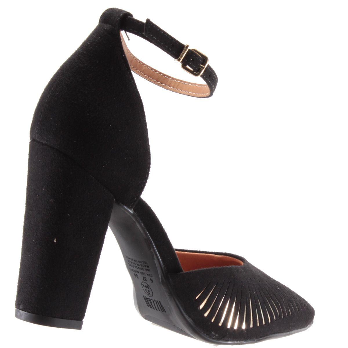 Scarpin Vizzano Sapato Feminino Salto Alto Metalizado 1264105